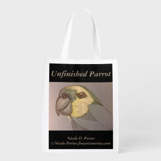 Unfinished Parrot Reusable Grocery Tote