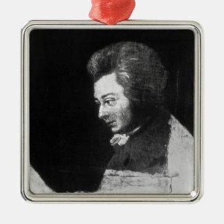 Unfinished Portrait of Wolfgang Amadeus Mozart Metal Ornament