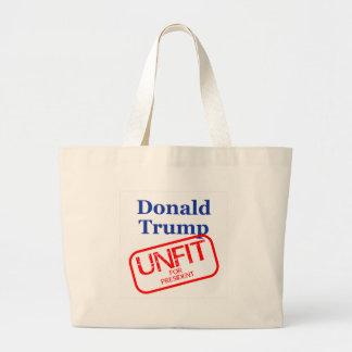 Unfit Donald Trump Large Tote Bag