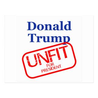 Unfit Donald Trump Postcard