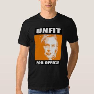 Unfit for Office - Anti-Hillary - - Anti-Hillary - T-Shirt
