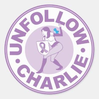 Unfollow Charlie Classic Round Sticker