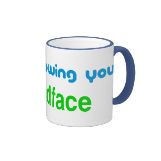 Unfollowing, friendface ringer coffee mug
