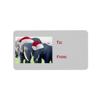 Unforgettable Elephant Christmas Label