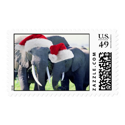 Unforgettable Elephant Christmas Stamp