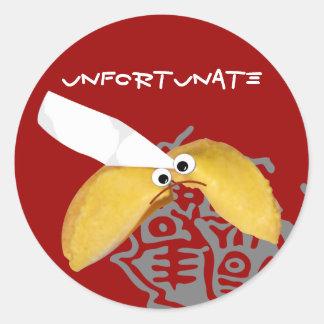 'unfortunate' fortune cookie humorous parody stickers