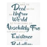 Unfree World Albert Camus Quote Custom Letterhead