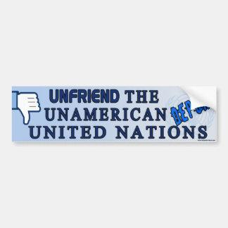 Unfriend el U.N. Pegatina Para Auto