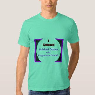 UnFriend Obama and  Progressive Friends Tee Shirt
