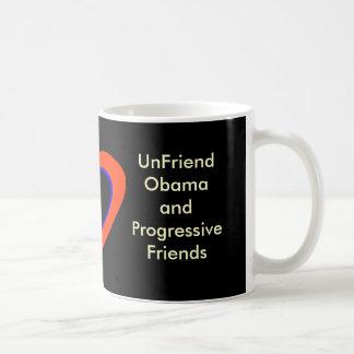 UnFriend Obama y amigos progresivos Taza Básica Blanca