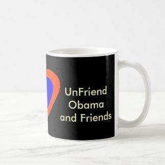 UnFriend Obama y amigos Taza Básica Blanca