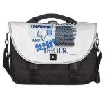 Unfriend the U.N. Laptop Messenger Bag