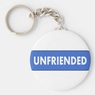 Unfriended Basic Round Button Keychain