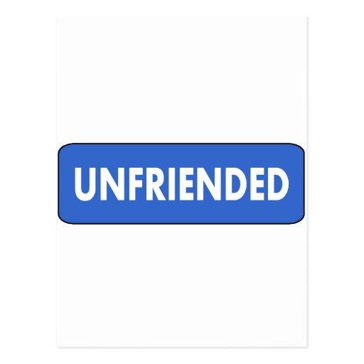 Unfriended Postcards