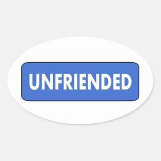 Unfriended Oval Sticker