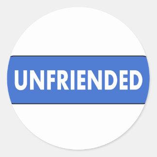 Unfriended Classic Round Sticker