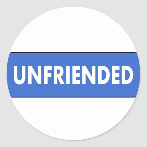Unfriended Sticker