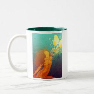 Unfurl (Mug) Two-Tone Coffee Mug