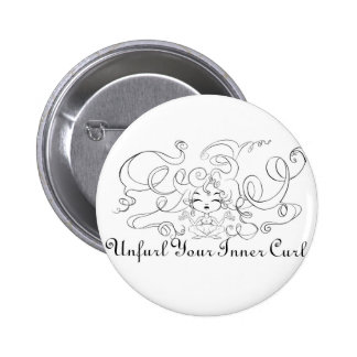 Unfurl your Inner Curl Pinback Buttons