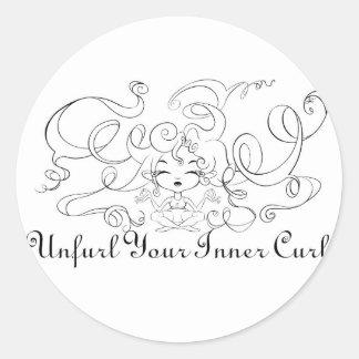 Unfurl your Inner Curl Classic Round Sticker