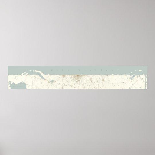 Unfurled Lake Michigan, Horizontal Poster