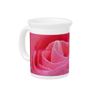 Unfurling Pink Rose Pitcher