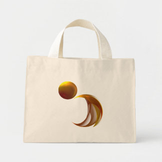 Unfurling Sun Abstract Art Mini Tote Bag