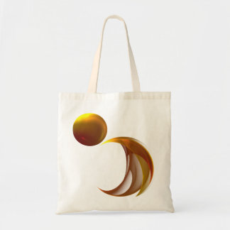 Unfurling Sun Abstract Fractal Art Budget Tote Bag