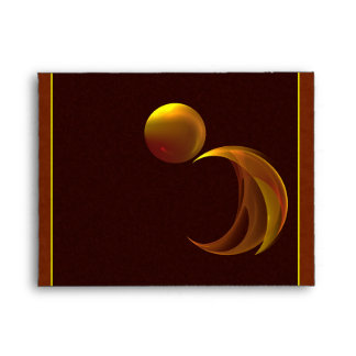 Unfurling Sun Abstract Fractal Art Envelope