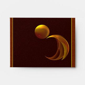 Unfurling Sun Abstract Fractal Art Envelopes