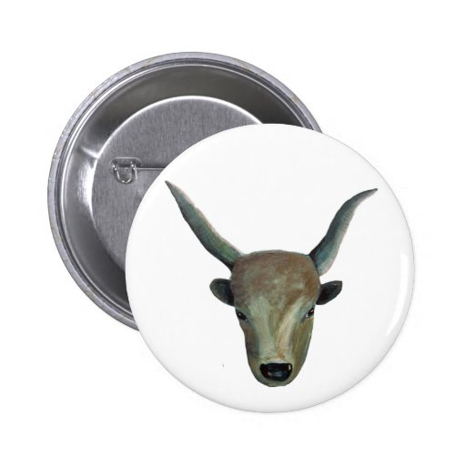 Ungarisches Steppenrind / Hungarian Grey Cattle Pin Redondo 5 Cm