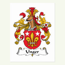 Unger Family Crest Postcard