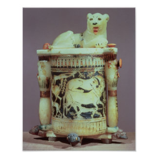 Unguent jar with a figure of a the king as a lion poster
