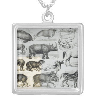 Ungulata or Hoofed Animals Silver Plated Necklace