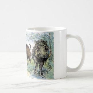 Ungulate: wild boars coffee mug