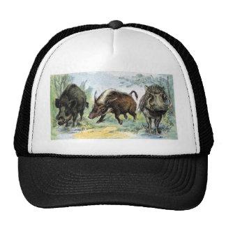 Ungulate: wild boars trucker hat