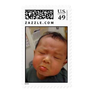 Unhappy Baby Stamp