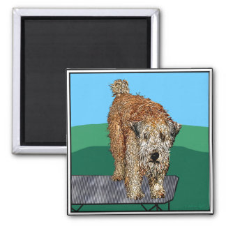 Unhappy Camper 2 Inch Square Magnet
