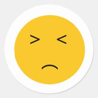 Unhappy Classic Round Sticker