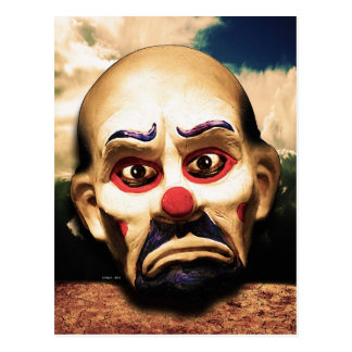 Unhappy Clown Postcard