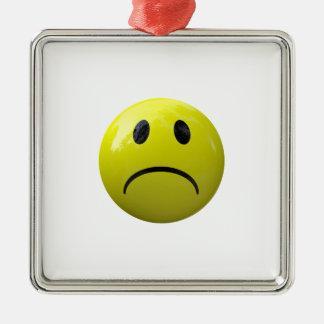 unhappy face emoji metal ornament