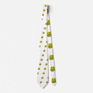 unhappy face emoji neck tie