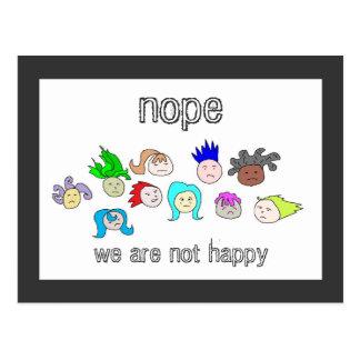 Unhappy Faces Invitation Post Card