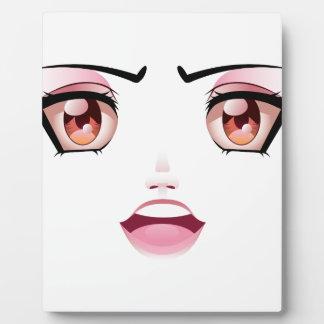 Unhappy Female Face 4 Plaque