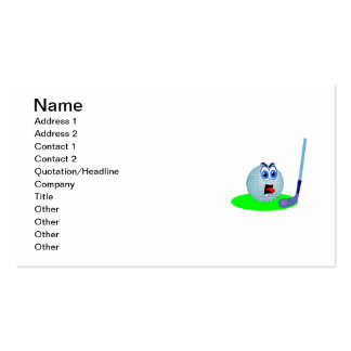 Unhappy Golf Ball T-shirts and Gifts Double-Sided Standard Business Cards (Pack Of 100)