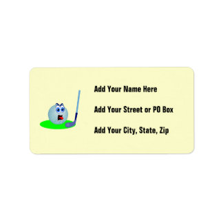 Unhappy Golf Ball T-shirts and Gifts Label