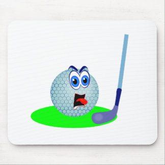 Unhappy Golf Ball T-shirts and Gifts Mouse Pad
