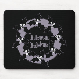 Unhappy Holiday Wreath Mouse Pad