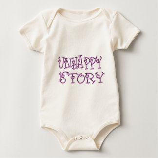 unhappy-is-story-(White) Baby Bodysuit