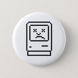 Unhappy Mac Badge Pinback Button